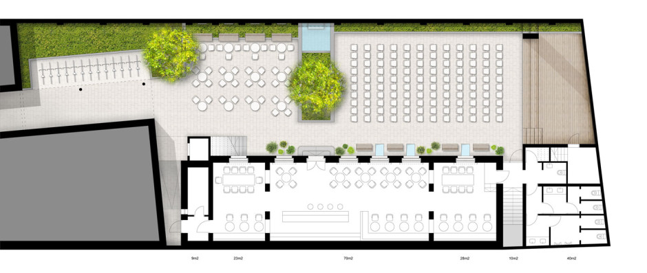 projektovani izgled prizemlja sa uređenjem dvorišta